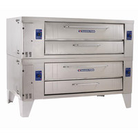 Bakers Pride Y-802 Super Deck Y Series Natural Gas Double Deck Pizza Oven 66 inch - 240,000 BTU