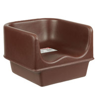 Cambro 100BC131 Brown Plastic Booster Seat - Single Height