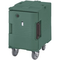 Cambro UPCHW400192 Granite Green Ultra Pan Carrier Heated Holding Pan Carrier with Casters - 110V