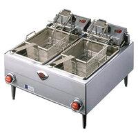 Wells F-68 30 lb. Dual Pot Autolift Electric Countertop Fryer - 9200W