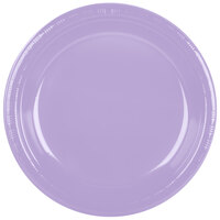 Creative Converting 28193031 10 inch Luscious Lavender Plastic Banquet Plate - 240 / Case