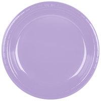 Creative Converting 28193031 10 inch Luscious Lavender Purple Plastic Plate - 240/Case