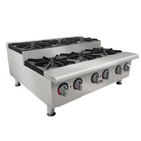 APW Wyott GHPS-6i Stepped Six Burner Countertop Range