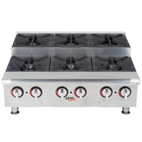 APW Wyott GHPS-6i Step-Up Six Burner Countertop Range