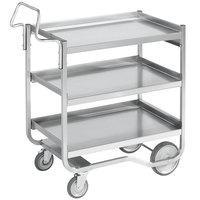 Vollrath 97211 Knock Down Heavy-Duty Stainless Steel 3 Shelf Utility Cart - 38 inch x 21 inch x 42 inch