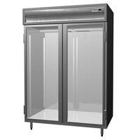 Delfield SSR2SL-G Stainless Steel 52 Cu. Ft. Two Section Glass Sliding Door Reach In Refrigerator - Specification Line