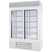 Beverage Air LV45-1-W-LED White LumaVue 52 inch Refrigerated Glass Door Merchandiser with LED Lighting- 47 Cu. Ft.