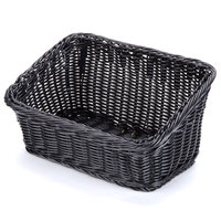 GET WB-1510-BK Designer Polyweave Plastic Cascading Basket - Black 9 1/4 inch x 13 inch - 6 / Pack