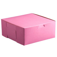 10 inch x 10 inch x 5 inch Pink Cake / Bakery Box - 100 / Bundle