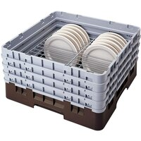Cambro CRP6345167 Brown Full Size PlateSafe Camrack 4-5 inch