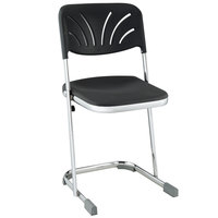National Public Seating 6618B Elephant Z-Stool with Backrest - 18 inch High
