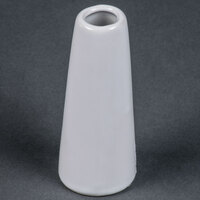 American Metalcraft BVTG6 1 1/2 inch x 4 inch White Ceramic Tower Vase
