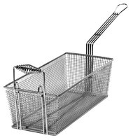 Cecilware V180P 16 3/4 inch x 8 3/4 inch x 6 inch Fryer Basket with Front Hook