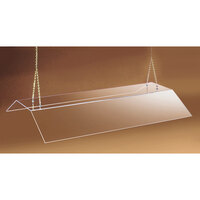 Cal Mil 774-S Suspended Acrylic Sneeze Guard - 72 inch Double Face