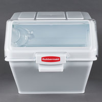 Rubbermaid FG9G5800WHT 200 Cup ProSave Shelf Ingredient Storage Bin with 2 Cup Scoop