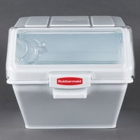 Rubbermaid 9G58 ProSave 12.63 Gallon Safety Storage Ingredient Bin with 2 Cup Scoop (FG9G5800WHT)