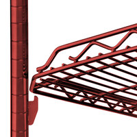 Metro HDM2136Q-DF qwikSLOT Drop Mat Flame Red Wire Shelf - 21 inch x 36 inch