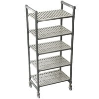 Cambro Camshelving Premium CPMS244275V5480 Mobile Shelving Unit with Standard Casters 24 inch x 42 inch x 75 inch - 5 Shelf