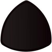 GET TP-12-BK 12 inch Black Elegance Triangle Black Plate - 12 / Case