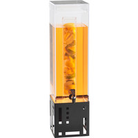 Cal-Mil 1602-3INF-13 3 Gallon Black Beverage Dispenser with Infusion Chamber