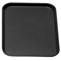 Cambro 1014FF110 10 inch x 14 inch Black Customizable Fast Food Tray - 24 / Case
