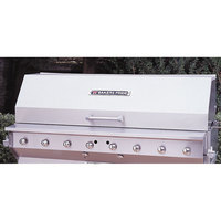 Bakers Pride 21841030 60 inch Ultimate Outdoor Charbroiler Stainless Steel Smoke and Roast Roll Top Hood