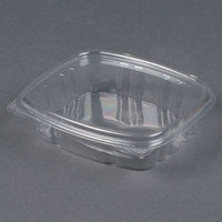 D&W Fine Pack VH08PC1 VersaPak 8 oz. Recyclable Square Hinged Take Out Deli Container - 200/Case