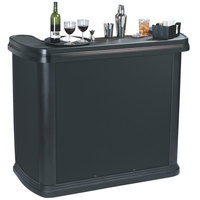 Carlisle 755003 Black Maximizer Portable Bar - 56 inch x 26 1/2 inch x 48 inch