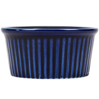 CAC RKF-4BLU Festiware 4 oz. China Fluted Ramekin Blue 48/Case