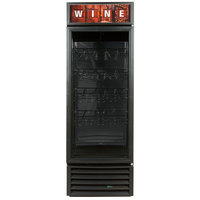True GDM-23W-HC-LD Black One Glass Door Refrigerated Wine Merchandiser - 23 Cu. Ft.