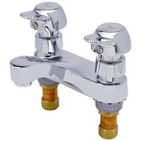 T&S B-0831-PA Deck Mounted Pivot Action Metering Faucet - 4 inch Centers