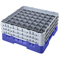 Cambro 49S800168 Blue Camrack 49 Compartment 8 1/2 inch Glass Rack