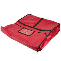 American Metalcraft PB2400 24 inch x 24 inch x 4 inch Standard Insulated Red Pizza Delivery Bag