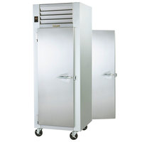 Traulsen G14314P 1 Section Pass-Through Solid Door Hot Food Holding Cabinet with Left Hinged Doors