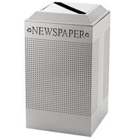 Rubbermaid DCR24P Silhouettes Stainless Steel Designer Recycling Receptacle - Paper 29 Gallon (FGDCR24PSS)