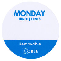 Noble Products Monday 1 inch Removable Day of the Week Dot Label - 1000 / Roll
