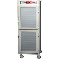 Metro C5Z69-SDC-U C5 Pizza Series Insulated Heated Holding Cabinet - Full Size with Clear Dutch Doors 120V