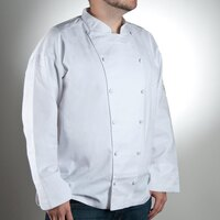 Chef Revival J015-XS Chef-Tex Size 32 (XS) White Customizable Cuisinier Chef Jacket