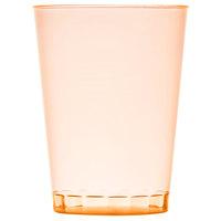 Fineline Savvi Serve 410-ORG 10 oz. Tall Neon Orange Hard Plastic Tumbler - 500/Case