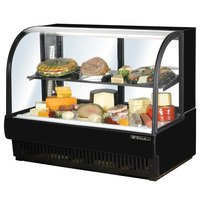 True TCGR-59-CD 59 inch Black Curved Glass Refrigerated Deli Case - 32.5 Cu. Ft.