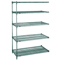 Metro 5AA427K3 Stationary Super Erecta Adjustable 2 Series Metroseal 3 Wire Shelving Add On Unit - 21 inch x 30 inch x 74 inch