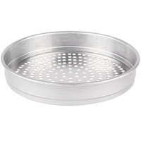 American Metalcraft HA5014SP 14 inch Super Perforated Straight-Sided Aluminum Pizza Pan - Heavy Weight Aluminum