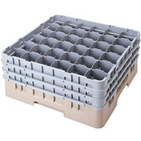 Cambro 36S1114184 Beige Camrack 36 Compartment 11 3/4 inch Glass Rack