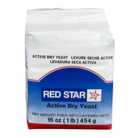 Lesaffre Red Star Bakers Active Dry Yeast 1 lb. Vacuum Pack - 20/Case