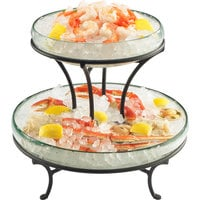 Cal-Mil 1542-13 Torre Redondo 14 inch x 12 1/2 inch Glass Display Stand