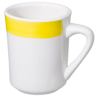 CAC R-17-Y Rainbow Tierra Coffee Mug 8.5 oz. - Yellow - 36/Case