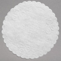 5 inch White Floral Linen Paper Doilies - 1000/Pack