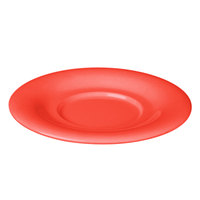 5 1/2 inch Orange Melamine Saucer for 8 oz. Bouillon Cup and 4 oz. Salad Bowl - 12/Pack