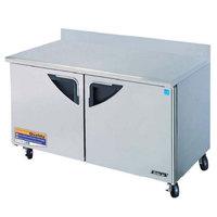 Turbo Air TWR-60SD 60 inch Super Deluxe Two Door Worktop Refrigerator - 16 Cu. Ft.