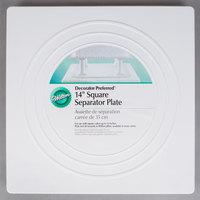 Wilton 302-1805 Decorator Preferred Square Smooth Edge Cake Separator Plate - 14 inch